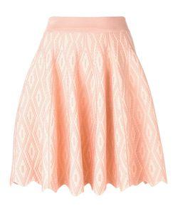 Jonathan Simkhai | Scalloped Hem A-Line Skirt Xs Rayon/Nylon/Spandex/Elastane