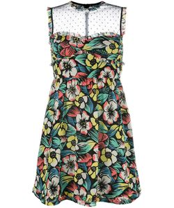 Red Valentino | Print Sheer Panel Dress 40
