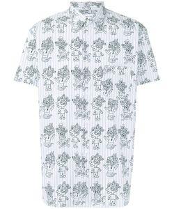 Comme Des Garcons | Comme Des Garçons Shirt Striped Monster Print Shirt
