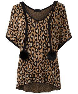 Andrea Bogosian | Pom Pom Knit Top Size Medium