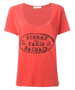 Pierre Balmain | Logo Print T-Shirt 36 Cotton