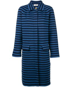 Sonia Rykiel | Striped Midi Coat Medium Cotton/Polyester