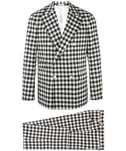 GABRIELE PASINI | Checked Suit 50 Nylon/Spandex/Elastane/Viscose/Wool