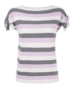Emporio Armani | Striped T-Shirt 44 Viscose/Polyester