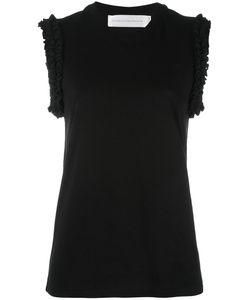 Victoria, Victoria Beckham | Victoria Victoria Beckham Ruffle Sleeve Blouse Medium Cotton