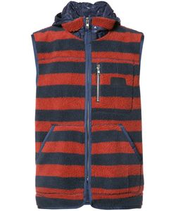 Prps   Sleeveless Striped Hoodie Medium Polyester