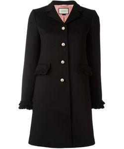 Gucci   Single Breasted Coat 38 Wool/Acetate/Silk/Viscose