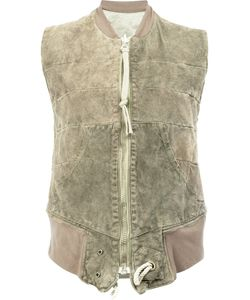 GREG LAUREN | Reversible Quilted Gilet 1 Cotton/Suede