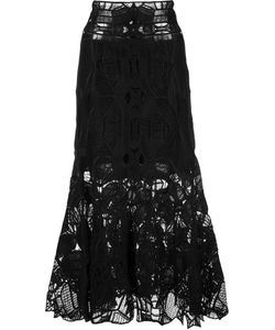 Jonathan Simkhai | Lace Midi Skirt 8 Silk/Spandex/Elastane/Rayon/Acetate