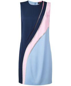 Versace   Crystal-Mesh Colour Block Dress Size 42
