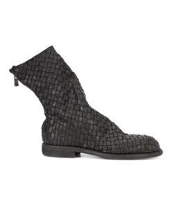 GUIDI | Ботинки С Плетеным Дизайном