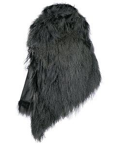 Ann Demeulemeester | Пальто На Одно Плечо С Мехом