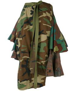 Erika Cavallini | Camouflage Asymmetric Skirt