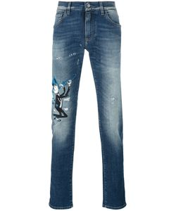 Dolce & Gabbana | Musical Patch Slim Fit Jeans 48