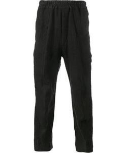 BY WALID | Ess Embroide Trousers Large Linen/Flax/Cotton