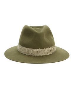 Maison Michel | Hat With Distressed Ribbon