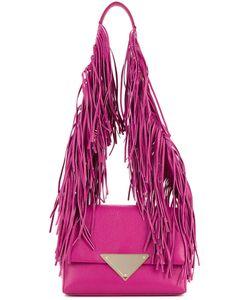 Sara Battaglia | Fringed Strap Shoulder Bag Calf