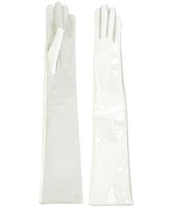 Manokhi | Plain Gloves 7.5 Leather/Patent Leather/Viscose