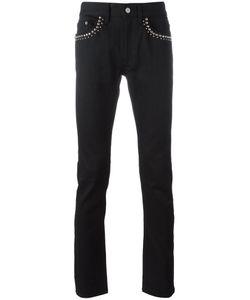 Roberto Cavalli   Studded Elastic Slim Straight Denim Pants 30