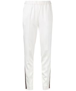 08SIRCUS | Striped Trim Pants 36 Rayon/Triacetate/Polyurethane