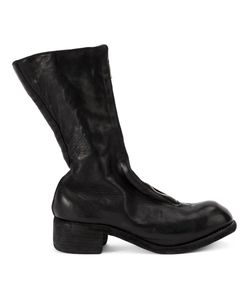 GUIDI | Block Heel Boots 40 Horse Leather/Leather/Rubber