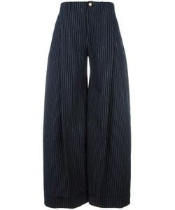 JACQUEMUS | Striped Palazzo Pants 36 Silk/Cotton/Viscose