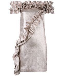 Marco Bologna | Off-Shoulder Ruffle Dress