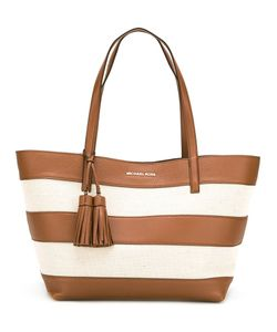 Michael Michael Kors | Striped Tote Cotton/Leather