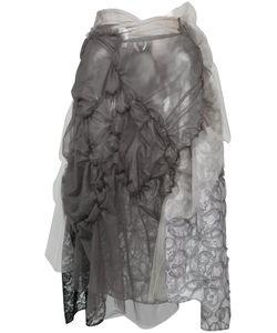 Tricot Comme des Garçons   Comme Des Garçons Tricot Laye Asymmetric Skirt Nylon/Polyester