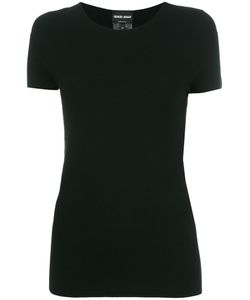 Giorgio Armani | Short-Sleeve Knitted Top 48 Polyester/Viscose