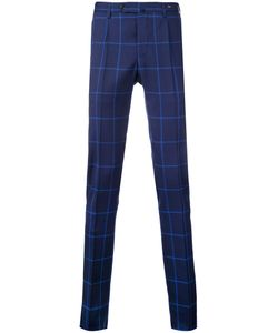 Pt01   Super Slim Checked Trousers Size 48