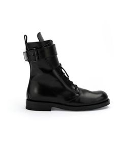 Ann Demeulemeester | Lace-Up Combat Boots 38 Leather