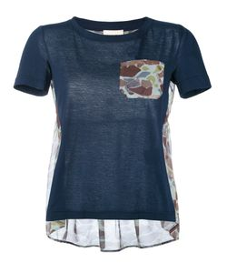 Semicouture | Camouflage Print Panel T-Shirt