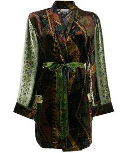 PIERRE-LOUIS MASCIA   Printed Velvet Belt Coat