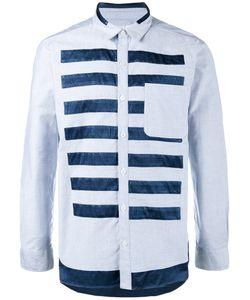 Neighborhood | Striped Oxford Shirt Size Large
