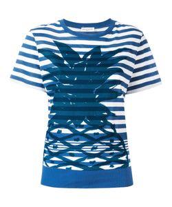 Sonia Rykiel | Pineapple Print Striped T-Shirt Size Medium