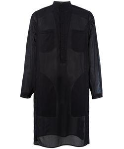 Qasimi   Elongated Sheer Shirt Size 15 1/2