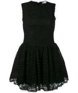 Red Valentino | Embroidered Lace Skater Dress