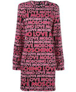 Love Moschino | Logo Print Jumper Dress 44 Cotton/Spandex/Elastane