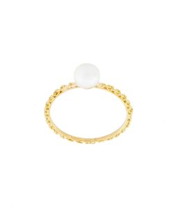 WOUTERS & HENDRIX GOLD | Pearl And Chain Ring Women