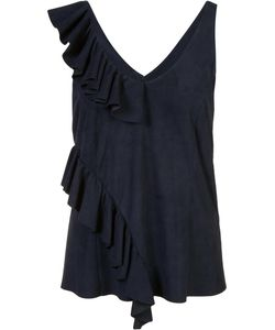 Drome | Ruffled Tank Top Small Suede