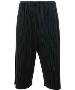HOMME PLISSE ISSEY MIYAKE | Homme Plissé Issey Miyake Pleated Cropped Trousers 3 Polyester