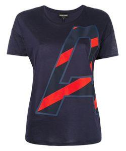 Emporio Armani | Initial Print T-Shirt 42 Cotton/Modal
