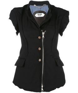 Pihakapi | Zip-Detail Blouse Small Polyester/Wool/Cupro