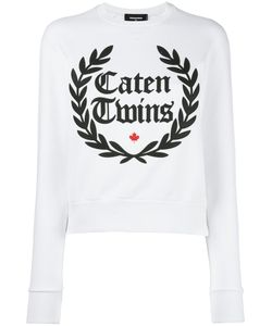 Dsquared2 | Caten Twins Wreath Sweatshirt Medium Cotton