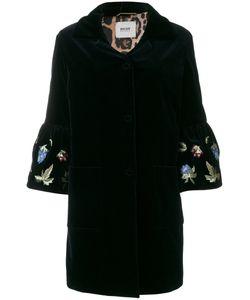 BAZAR DELUXE   Velvet Embroidered Sleeve Coat