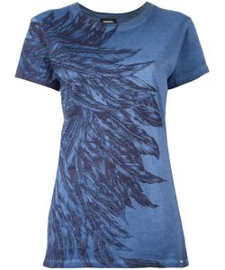 Diesel | Feathers Print T-Shirt Xs Cotton
