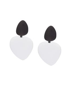 MONIES | Drop Disc Clip On Earrings
