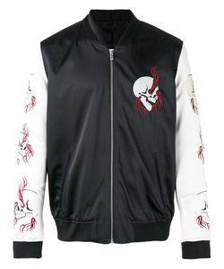 The Kooples   Embroidered Skull Bomber Jacket 50 Polyester/Spandex/Elastane/Acetate/Lamb