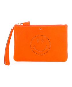 Anya Hindmarch | Smiley Zipped Clutch Calf Leather